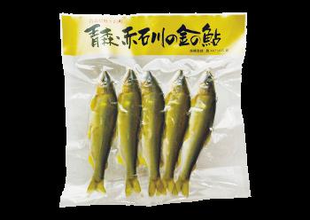 青森・赤石川の金の鮎